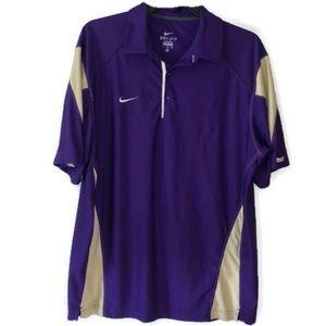 Nike Dri-Fit Purple/cream Collar Shirt